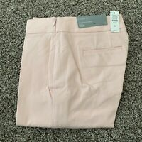 Womens Talbots Chatham Ankle Slim Leg Pant Pink With Small Black Mark Size 0P