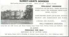 1937 Surrey Hampshire Border Well-built Residents 29 Acres Freehold For Sale