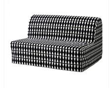 IKEA Lycksele EBBARP Black White Geometric MOD Diamond Futon Sleeper Sofa COVER