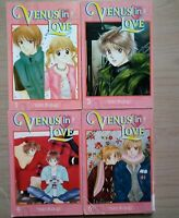 Venus in Love 1, 3-4, 6 Lot of 4 Shojo Manga, English, 13+, Yuki Nakaji