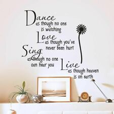Inspirational Wallpaper Quotations Decals Removable PVC DIY Murals Wall Stickers