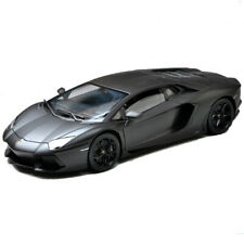Welly 1:18 Lamborghini Aventador LP700-4 Racing Diecast Model Car Matte Black