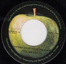 """THE BEATLES THE BALLAD OF JOHN AND YOKO RARE ORIGINAL 1969 RECORD YUGOSLAVIA 7"""""""