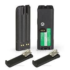 Imax_expert 2pcs 2.1Ah Ntn8294 Battery for Motorola Xts3000 Xts5000 +2 belt clip