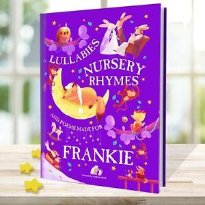 Nursery Rhymes and Personalised Lullabies Book for Toddlers & Newborns HARDBACK