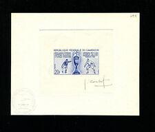 Cameroun1965 Soccer/Football Africa Club Cup Scott 419 Signed Artist Proof Blue