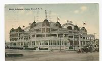 Postcard Hotel Jefferson Coney Island NY 1914