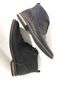 Original Penguin Munsingwear leather Medley Chukka Mid Boots Size 13 Charcoal