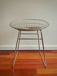 Vintage CEES BRAAKMAN pastoe WIRE STOOL KM05 CHAIR 1950s eames era dutch mategot