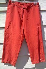 NIKE  Women's Active Athletic Capri Pants Medium M 8-10 - Coral/Orange
