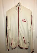 Franklin Marshall Mens Zip up Sweater Red White XL Track Jacket Made In Italy