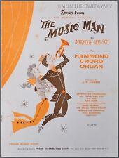 1958 SONGS FROM THE MUSIC MAN Meredith Willson HAMMOND CHORD ORGAN Book