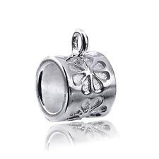 MATERIA Silber Beads Charmträger - 925 Silber Bead Carrier mit Charms Träger Öse