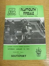 12/01/1974 Plymouth Argyle v Southport  . Thank you for viewing this item, we ha