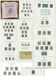 BRAZIL 1866/88  EMPIRE - Dom Pedro small specialized collection