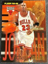 MICHAEL JORDAN, FIRM FOUNDATION, FLEER/SKYBOX 1995-96, CARD #323 HIGH GR 9-10