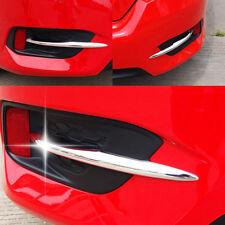 Chrome Rear Fog Light Cover Trim For Honda Civic 10th Gen Sedan 2016 2017 2018