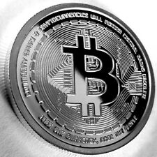 (1) 2012 Bitcoin Cryptocurrency 1oz .999 Fine Silver Proof AOCS Collector Coin