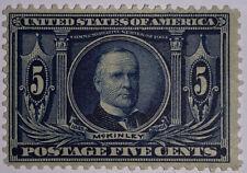 TRAVELSTAMPS: 1904 US Stamps Sc # 326, mint, og, never hinged, McKinley, 5 cents