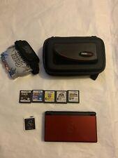 Nintendo DS Lite Crimson Red + 40 Games MINT CONDITION