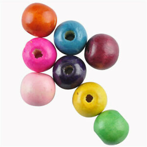 5-200Pcs Mixed Wooden Beads Spacer Loose Beads DIY for Jewelry Making Wholesale