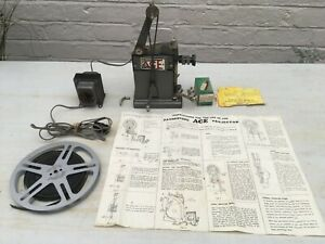 Pathescope Ace 9.5mm Cine Film Projector with Instructions and Mickey Mouse Film