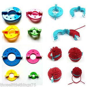 Pompom maker 4 sizes pom poms bobble maker kit knitting crafts fuzz ball tool