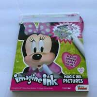 H23 NEW 12pg Disney Minnie Mouse Imagine Ink Mess Free Game Activity Book