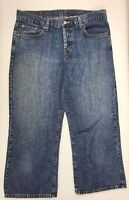LUCKY BRAND Capri Jeans Womens Classic Fit Crop Medium Wash Button Fly Sz 10/30