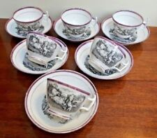 Pink Cups & Saucers Tableware Date-Lined Ceramics