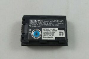 Sony Genuine OEM Li-Ion Rechargeable Battery (NP-FH40) (pp)