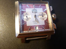 NEW RARE! PATRIOT Chronograph Sapphire Russian Watch Factory Red dial mechanical