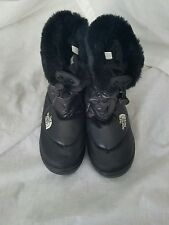 The North Face Black Boots.  Faux Fur, Quilted, Goose Down Women's Size 8