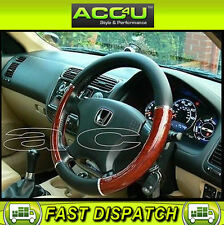Universal Black & Wood Effect Car Steering Wheel Cover Glove