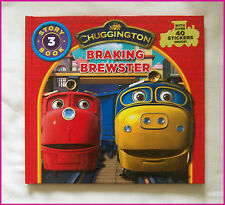 CHUGGINGTON BOOK Braking Brewster Story 3 - HARDCOVER over 40 Stickers - NEW