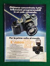 PY94 Pubblicità Advertising Clipping 24x18 cm (1983) CANON T50 FOTOGRAFIA