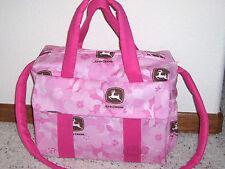 Pink John Deere Flower Camo custom handmade Diaper Bag w/changing pad by Emijane