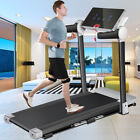 3.0HP Folding Treadmill 300LB Capacity Motorized Running Machine for Home Gym