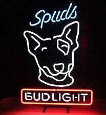 "New Bud Light Spuds Beer Budweiser Neon Sign 17""x14"""