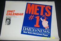 1987 NEW YORK METS Calendar 1986 WORLD CHAMPIONS Bill Gallo GOODEN Strawberry