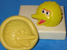 Sesame Street Big Bird Silicone Push Mold Cake A439 Sugarpaste Soap Fondant Soap