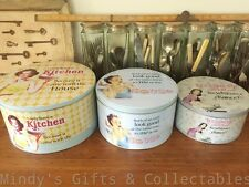 Set of 3 Vintage Retro Inspired Round Cake Tins Kitchen Canisters Containers