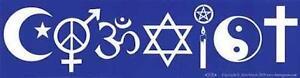 COEXIST Blue & White Bumper Sticker!
