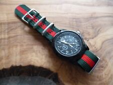 6961df4f7 20mm G10 Zulu Sports Green and Red Woven Nylon Watch Strap UK Supplier