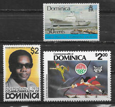 DOMINICA , SHIPS-PRIME MINISTER-DISNEY , LOT OF 3 STAMPS , PERF , MNH