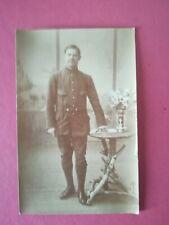 CPA - PHOTO WW1 14-18 - Soldat en pied poilu studio 10 ème régiment