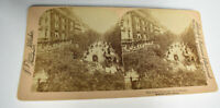 Antique Underwood Stereoview Photograph Card Paris France Grand Boulevard
