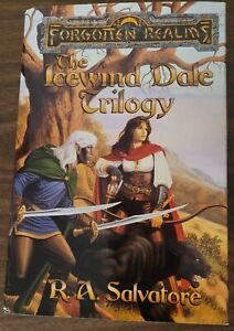 THE ICEWIND DALE TRILOGY R.A. Salvatore Forgotten Realms hardcover & dust jacket