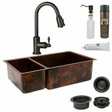 New listing Premier Copper Products Ksp2_K25Db33199 Kitchen Sink, Pull Brown