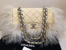 Original Chanel beige Tasche Handtasche bag Limited Edition creme Pelz 2.55
